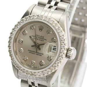 Rolex Lady Datejust Silver Diamond Dial/Bezel 26mm